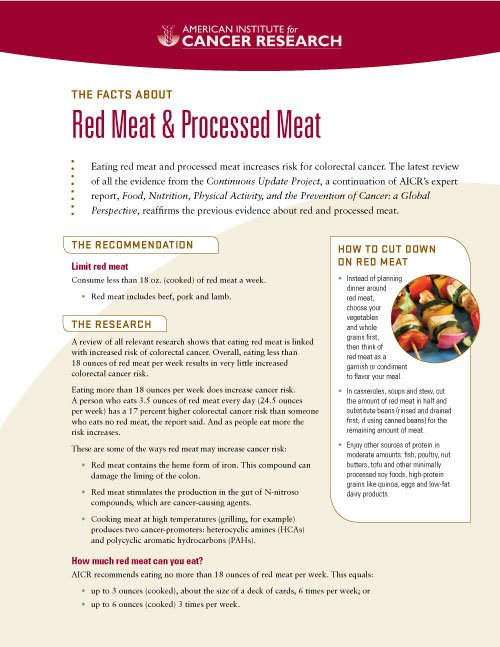 How much red meat can you eat?