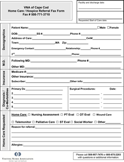 Home Care Hospice Referral Form