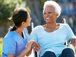 home care at home with patient