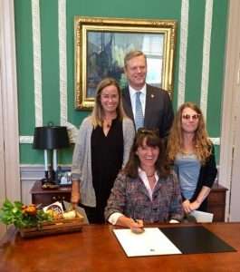 Governor Baker with Francie Randolph as he signed the Farm to School proclamation.