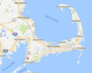 Map of Cape Cod Healthcare's Transitional Centers Locations