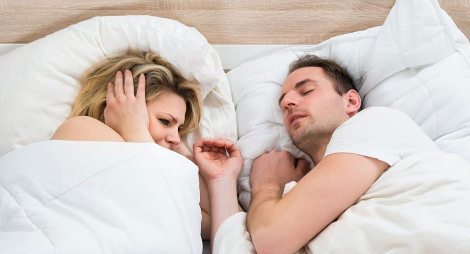Is your snoring driving your sleeping partner away?