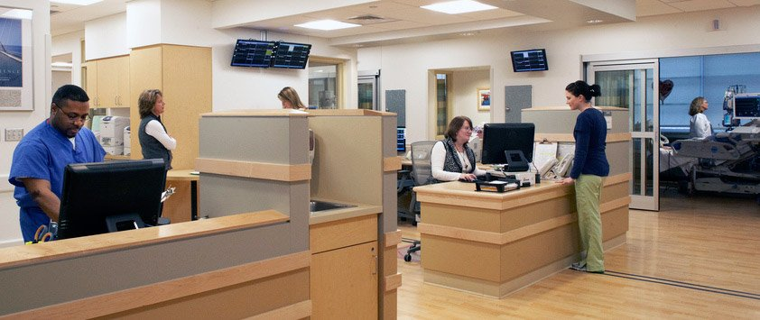 Cape Cod hospital intensive care nurses station