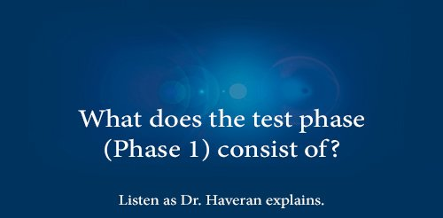 What does the test phase (Phase 1) consist of?