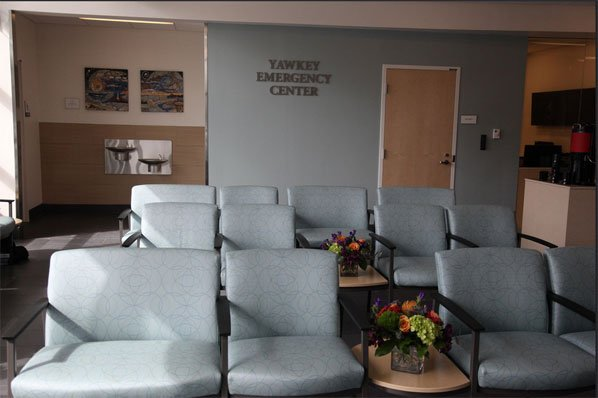 Falmouth Hospital Emergency Center waiting room.
