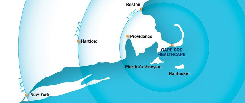 map of cape cod in location to cities