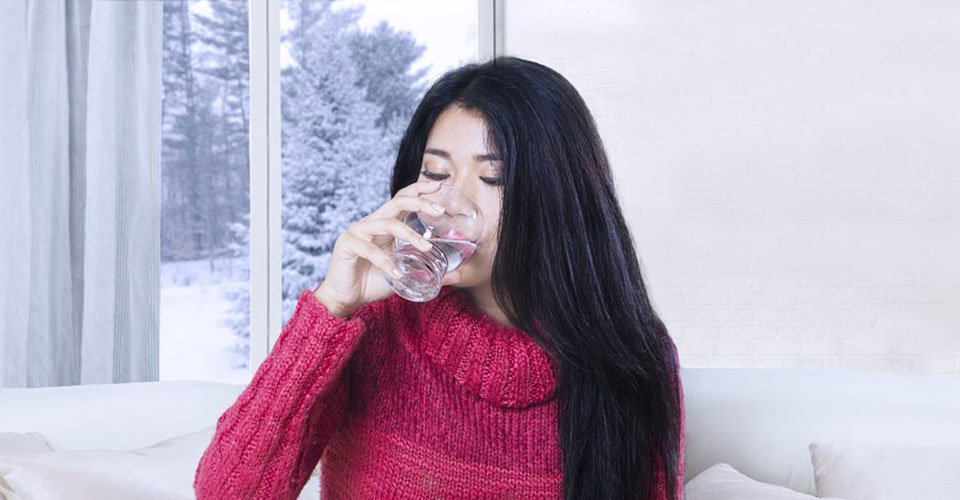 Keep hydrated – even when it's cold outside