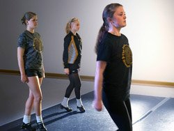 Allison Thomas in Irish Step dance class