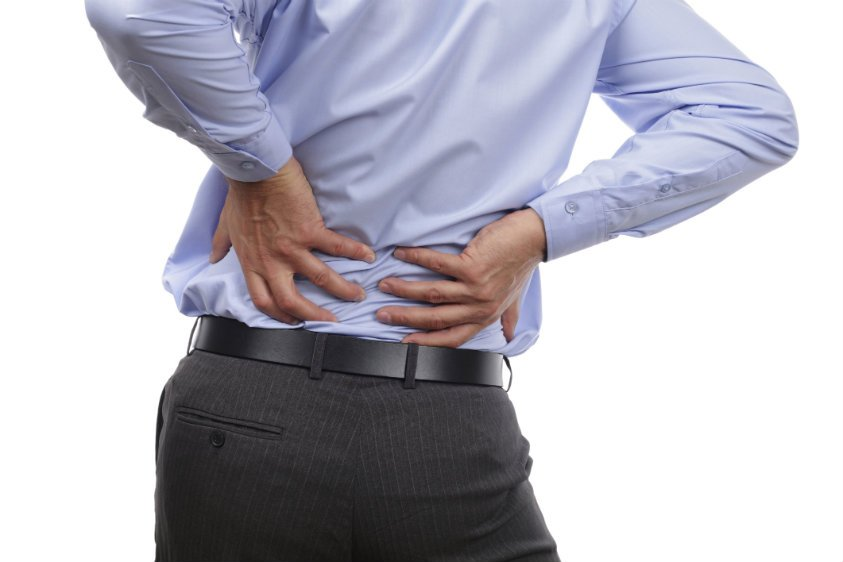 Man Suffering from Sacroiliac Joint Back Pain