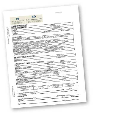 Wound Care Intake Form - download as a PDF
