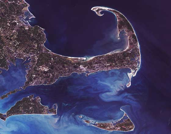 Satelite Photo of Cape Cod