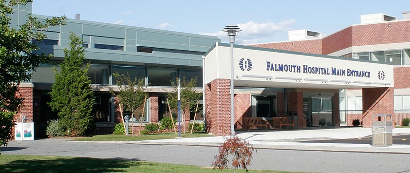 exterior of Falmouth Hospital