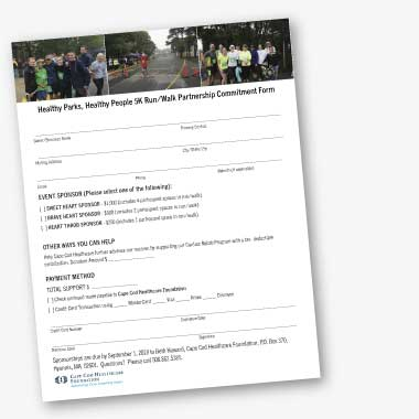 Healthy Parks, Healthy People - HPHP 5k Sponsorship Form