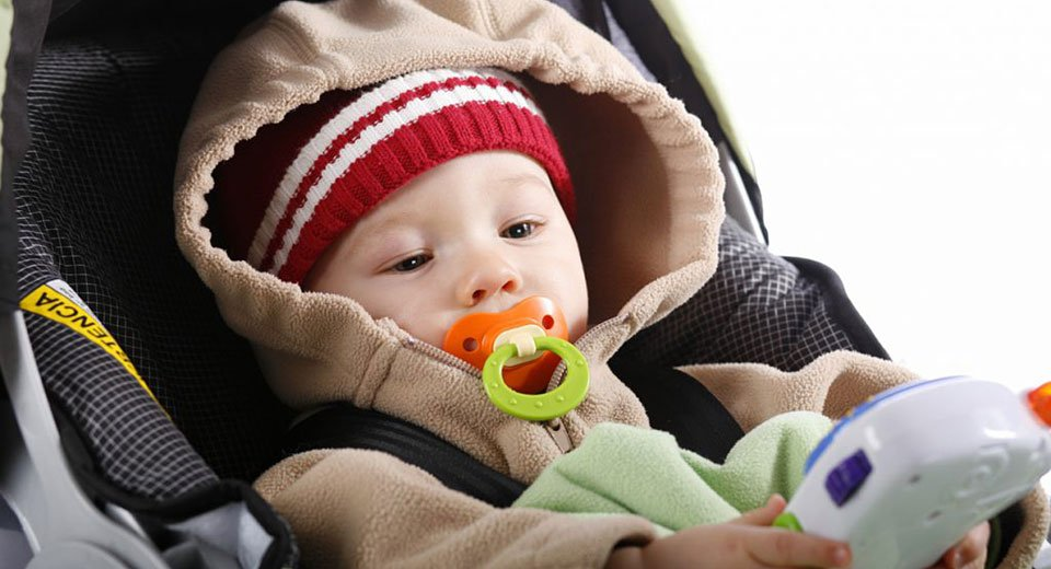 Bundle up that baby – but not in the car seat!