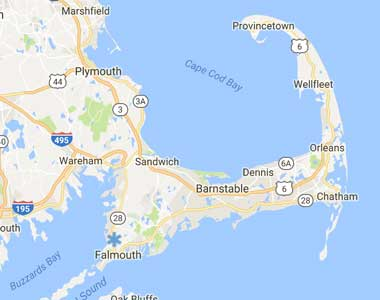 Map of Cape Cod Healthcare's Assisted Living Facilities Locations